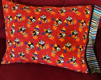 Childrens Mickey Mouse Print Pillowcase