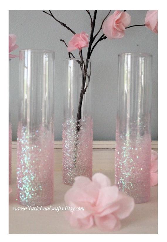 Set Of 3 Bud Vases Baby Shower Centerpieces Baptism Decor