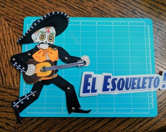 El Esqueleto - Articulated Paper doll
