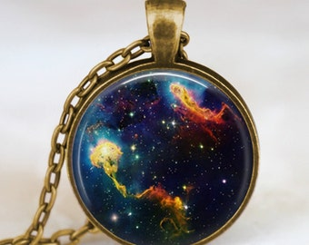 Nebula jewelry  , Nebula space necklace, Nebula jewelry, galaxy space necklace , space jewelry, space art pendant, beautiful nebula charm