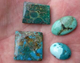 Turquoise cabochons, lot no. 5, 56.6 carat