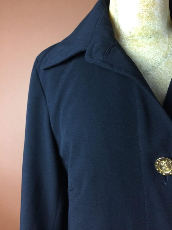 6 Black Buttoned Dress Vintage Collectible Minimalist CELINE Rare Summer Long UK Designer 8US Small Logo 80's Medium 8 Coat Jacket Vintage U5I5w0x7q