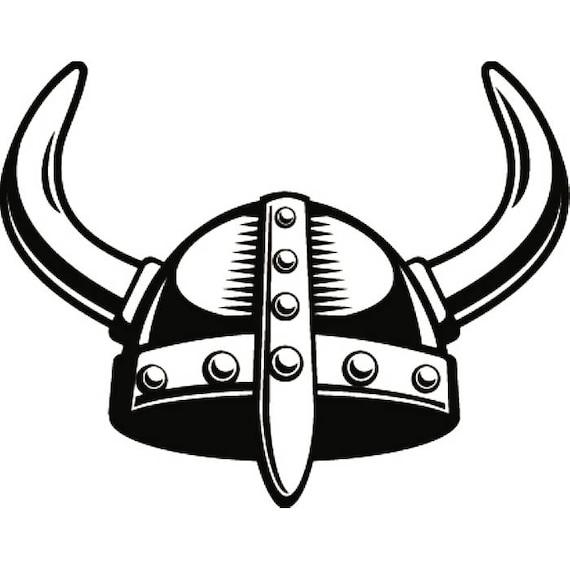 viking helmet 1 horns norway sail sailing ancient warrior rh etsy com viking football helmet clip art free Viking Helmet Vector