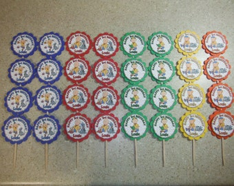32 CAILLOU Cupcake Toppers PERSONALIZED - Picks Birthday Party Favors