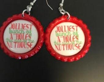 jolliest bunch of a- holes earrings