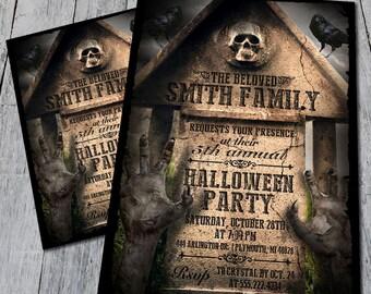 Graveyard Halloween Invite (Digital)