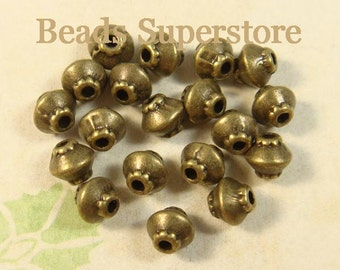4 mm x 5 mm Antique Bronze Bicone Shape Spacer Bead - Nickel Free, Lead Free and Cadmium Free - 30 pcs