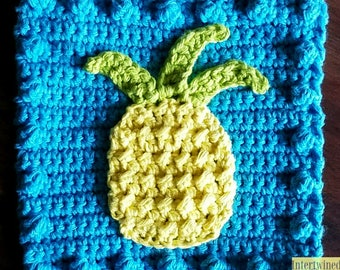 Crochet Pineapple Applique Granny Square PATTERN: Like a BOSS Blanket Series pdf instant digital download