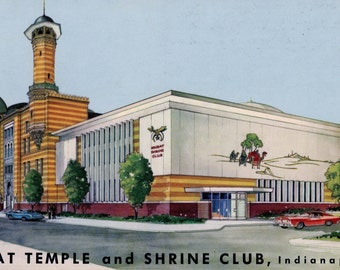 1971 Post Card Featuring The Shrine Club Murat Temple In Indianapolis, IN