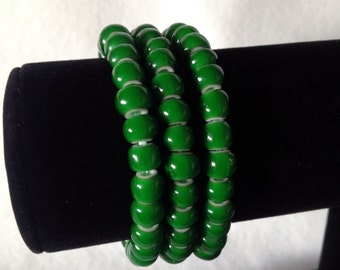 Stacking African Glass Bead Bracelets (Set of 3)