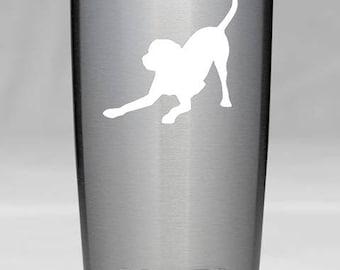 "PLAYFUL LAB Labrador Retriever 2.5"" x 2.5"" WHITE Vinyl Decal Sticker - Dog Puppy *Free Shipping*"