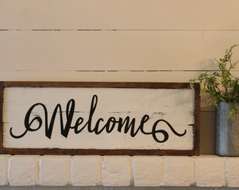 Welcome Sign, Farmhouse Decor, Farmhouse Sign, Modern Farmhouse Sign, Modern Farmhouse Wall Decor, Farmhouse Style Sign, Shabby Chic Signs