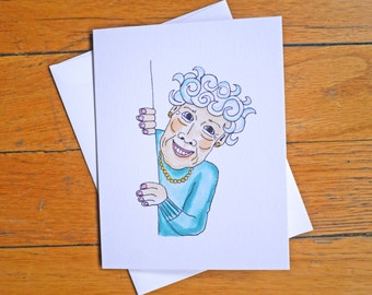 Funny birthday card youre not dead happy birthday funny birthday card old lady the youngest youll ever be rude m4hsunfo