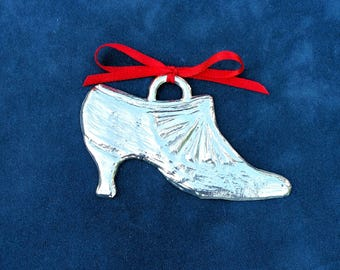 Pewter Vintage Style Shoe Ornament