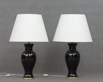 Pair of Italian mid century ceramic lamps