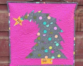 The Crooked Christmas Tree Mini Quilt Pattern (PDF Download Version) Paper Piecing