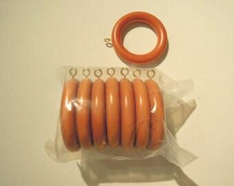 Wood Drapery Rings, Drapery Hardware, Oak, 7