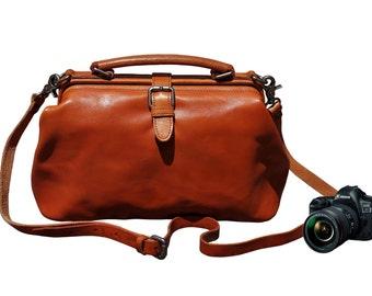 Dslr Camera Bag, Leather Camera Bag, Padded Camera Bag, Dslr Bag, Camera Bag, Camera Bag For Women, Women Camera Bag, Camera Crossbody Bag