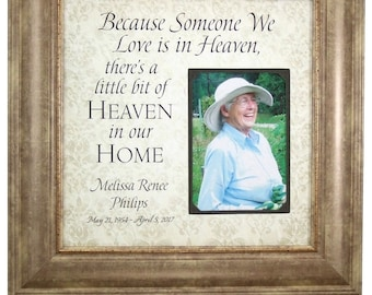 In Memory Of, Sympathy Gift, Memorial Wedding Sign, In memory of gift, Personalized sympathy gift, In memory of, Memorial Frame, 16x16