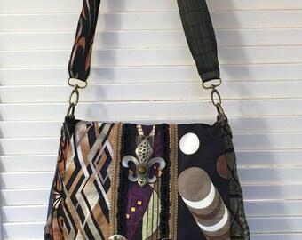 Silk neck tie purse