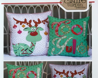 Claire Turpin Cool Yule CT020 Cushion Patterns + Instructions
