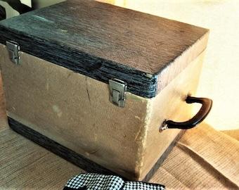 Shabby Vintage Case, Equipment Case, Charming Vintage Storage Case