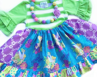 Tinkerbell dress, Disney clothing, Pink Momi boutique custom