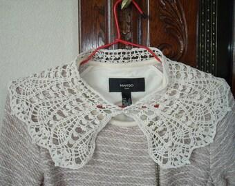 Crochet lace Peter Pan collar