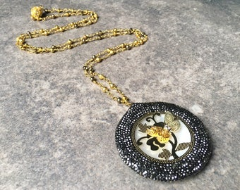 Gold Rosary Necklace / Rosary Necklace / Butterfly Necklace / Rosary Pendant Necklace / Butterfly Necklace / Gifts for Her/Butterfly Jewelry