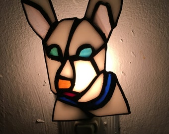 Stained Glass Dog Nightlight-Custom Made