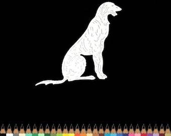 Cut scrapbooking animal dog Greyhound cut paper embellishment die cut creation