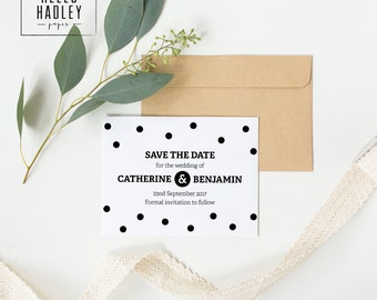 Printable wedding save the date card - Taylor collection