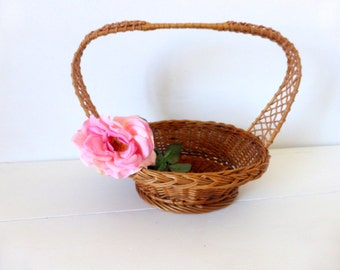 Vintage French, Basket, Home Decor