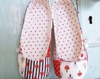 Shoe Pattern - PDF  - Vintage Flair Flats child size 7 - 12