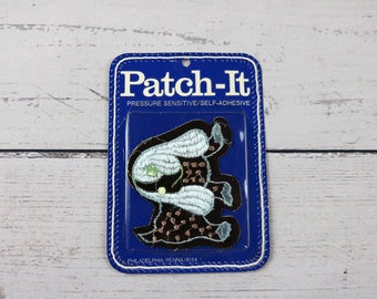 Vintage Patch-It Pressure Sensitive/ Self Adhesive Puppy Dog Patch- Jacket Patch