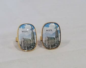 Vintage Wien Austria Cathedral Picture Cuff links