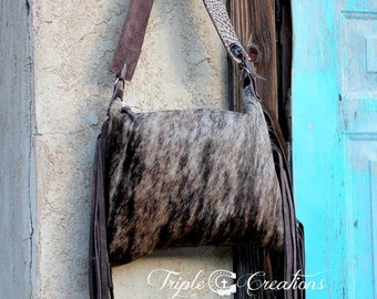 Custom Cowhide Shoulder Bag