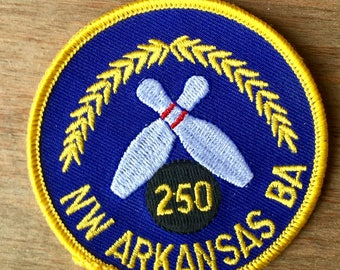 Vintage Bowling Patch from the Northwest Arkansas Bowling Association Celebrating a 250 Game.