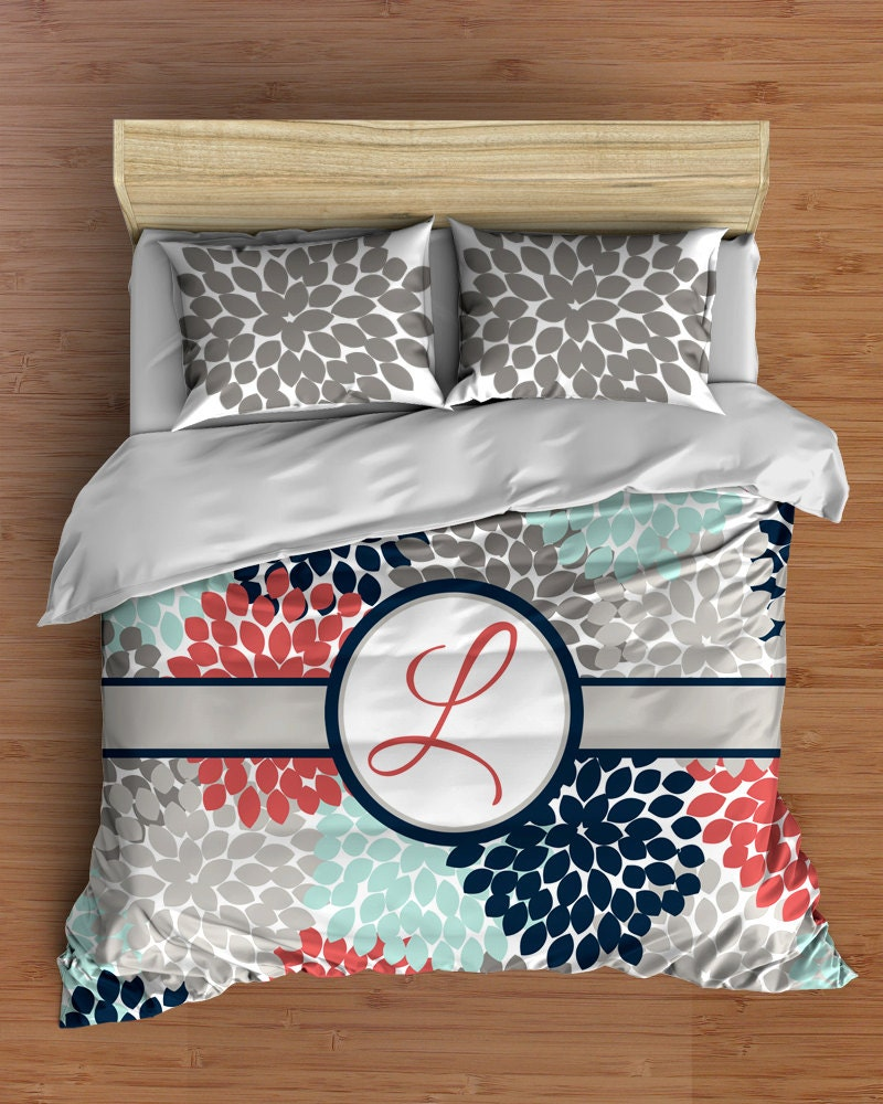 Navy And Coral Bedding Part - 29: ?zoom