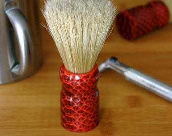 Handmade Shaving Brush with Natural Bristles