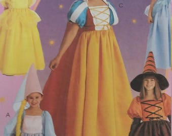 UNCUT and FF Pattern Pieces Vintage McCalls 8895 Storybook Costumes Size 4-5-6