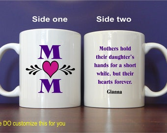 Personalized Mom Mug Gift - Gifts for Mom - Mom Birthday Gift from Daughter - Son - Mothers Day Gift, MMA001
