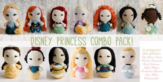 Amigurumi Patterns Disney : Disney princess dolls master collection disney crochet