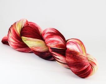 Hand Dyed Yarn - BOLLYWOOD BRIDE - 80/20 Australian Merino/Nylon Sock Yarn
