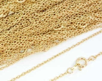 22ct Gold Plated Necklace Trace Chain 18 Inch 4PC 10PC