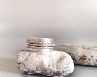Spinner Ring - Meditation Ring - Wide Silver Ring