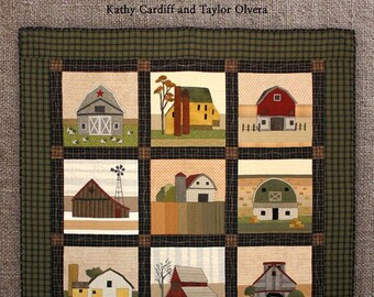 Pattern Book: Where the Cows Come Home/The Barn Quilt Block a Month by The Cottage At Cardiff Farms