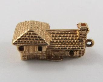 House 10K Gold Vintage Charm For Bracelet