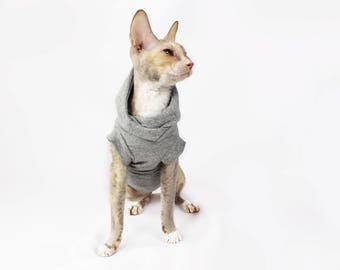 Cat clothes | Gray Hoodie
