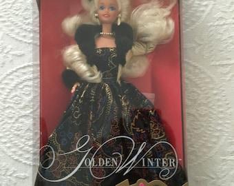 Mattel Golden Winter Barbie